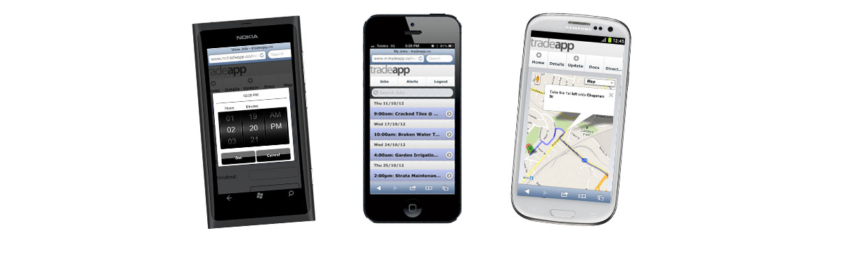 2. List, locate and update jobs on any mobile with web capabilities!